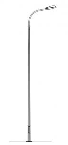 Опора освещения SX5/3/F250 металлическая оцинкованная
