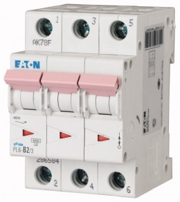 Автоматический выключатель 0,16А, кривая отключения C, 3 полюс, откл. способность 6 кА