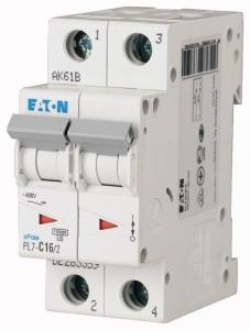 Автоматический выключатель 0,16А, кривая отключения С, 2 полюс, откл. способность 10 кА