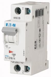 Автоматический выключатель 0,16А, кривая отключения С, 1+N полюс, откл. способность 10 кА