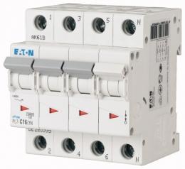 Автоматический выключатель 0,16А, кривая отключения С, 3+N полюс, откл. способность 10 кА