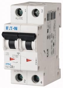 Автоматический выключатель 0,25А, кривая отключения C, 2 полюса, откл. способность 15 кА