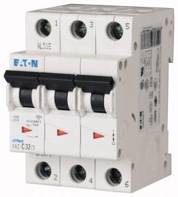 Автоматический выключатель 0,25А, кривая отключения C, 3 полюса, откл. способность 15 кА