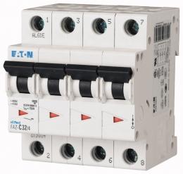 Автоматический выключатель 0,16А, кривая отключения C, 4 полюса, откл. способность 15 кА