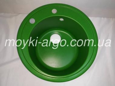 Гранитная мойка Argo Tondo 510 зеленая круглая