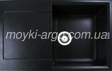 Гранитная мойка Argo Vesta черная