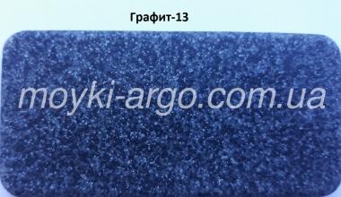 Гранитная мойка Argo Cubo графит