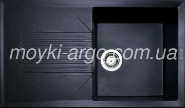 Гранитная мойка Argo Stels черная