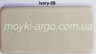 Гранитная мойка Argo West ivory