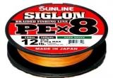 Шнур Sunline Siglon PEx8 150м #0.8 0.153мм 12Lb 6.0кг (оранжевый)