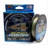 Шнур X-Braid Super Jigman X4 200m #1.2/0.185mm 20Lb/9.1kg