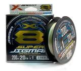 Шнур X-Braid Super Jigman X8 200m #1.2/0.185mm 25Lb/11.33kg